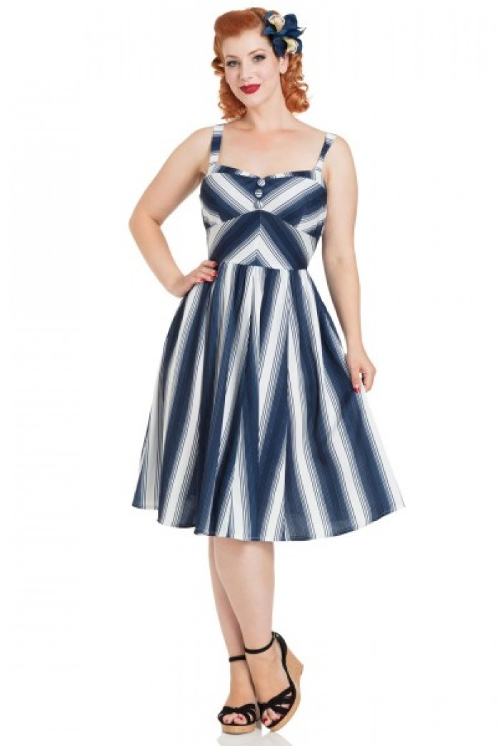 Nautical Striped Dress  Blue And White Summer Dress
