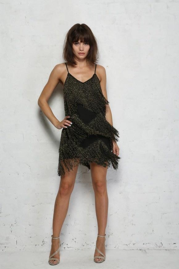 Black Fringe Flapper Dress - Tassel Dress - 1920s