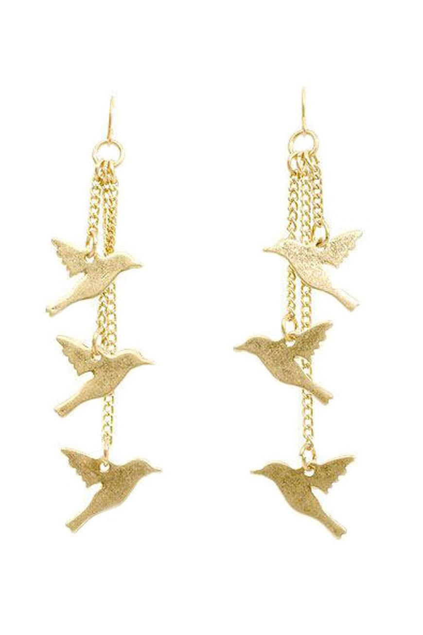 Gold bird earrings  birdie earring  Bee Jewellery  UK