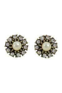 Pearl And Crystal Earrings - 1930s Style Earrings ...