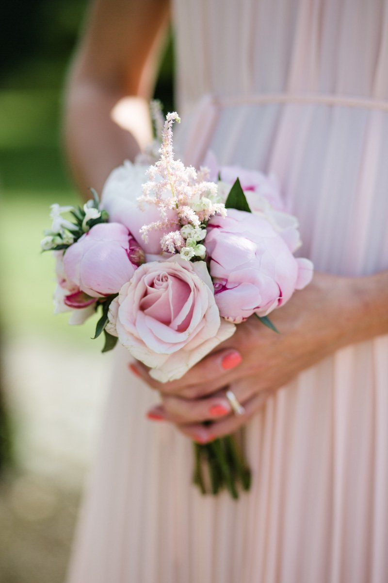 Jenny Packham Esme for a gold peach and pink wedding in Worcestershire