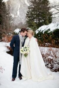 A Snowy Winter Wedding With A Jenny Packham Muscari Dress ...