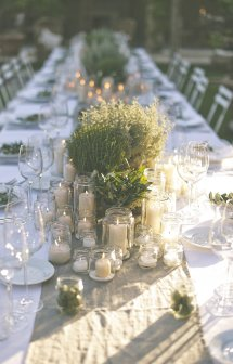 Perfect Romantic Italian Garden Dinner Party. - Rock
