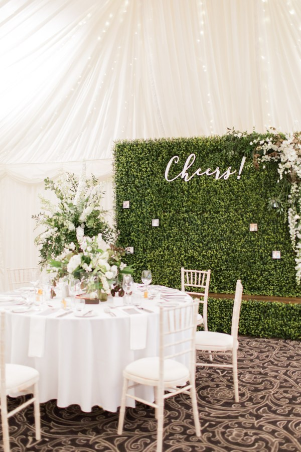 Greenery & White Marquee Wedding Villa Levens With