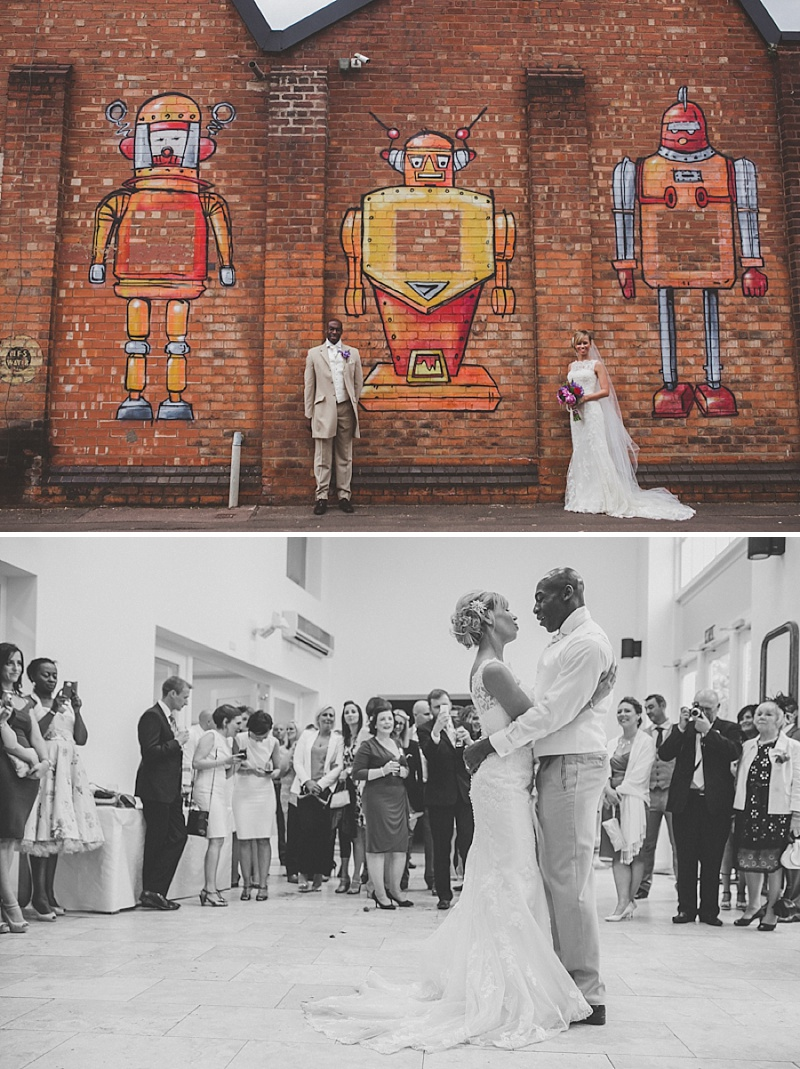 A Colourful Contemporary Wedding At Fazeley Studios Digbeth Bride in Justin Alexander Gown Photography by Jordanna Marston 0014 Love In A Hopeless Place.