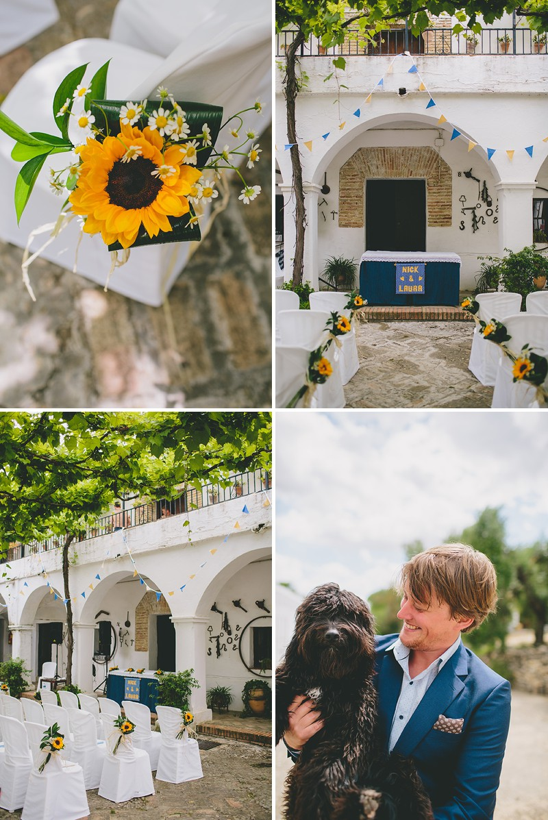 An Intimate Rustic Wedding In Seville Spain With Bride In Temperley Gown And Groom In Navy Reiss