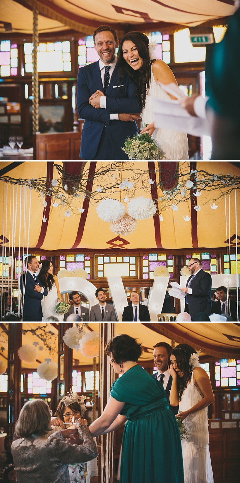 A Great Gatsby and Woodstock themed modern wedding with