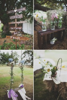 Festival Inspired Bohemian Wedding With Wildflowers And
