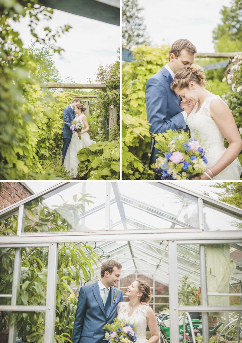 A fun outdoor wedding in Northumberland with a blue colour