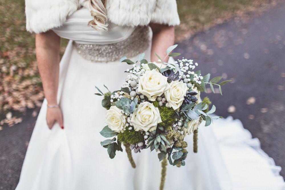 Justin Alexander Wedding Dress For An Autumn Vintage