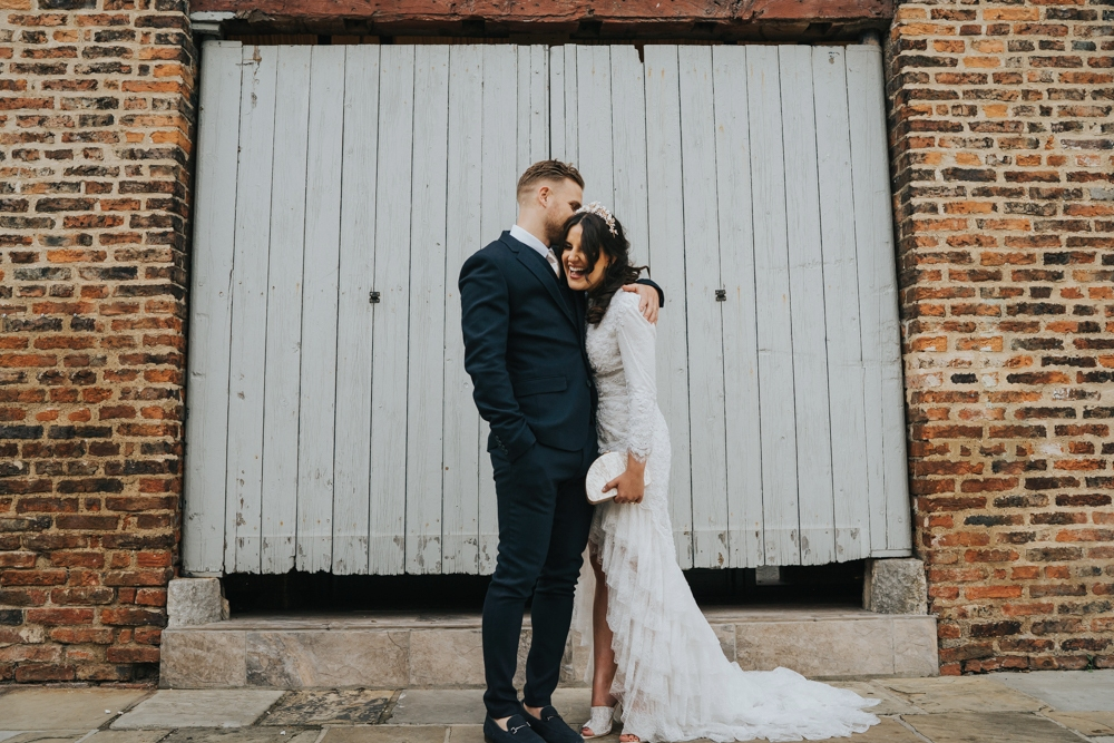 Civil Ceremony & Bespoke Emma Beaumont Dress at Yorkshire Wedding