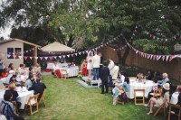 Tasha & Noahs Americana Backyard BBQ Wedding  Rock n