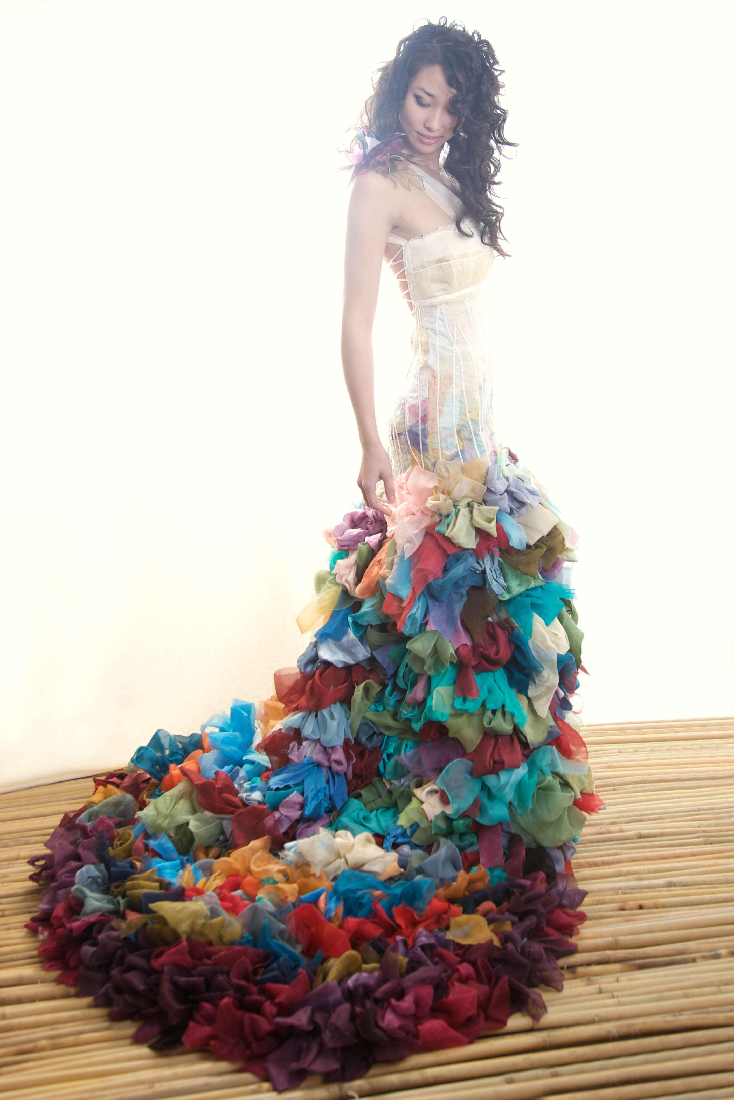 Alternative  Colourful Wedding Dresses from Chrissy WaiChing  Rock n Roll Bride