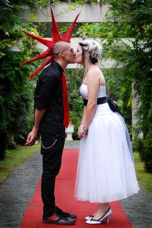 Punk Rock Wedding Lauren Amp Con Rock N Roll Bride
