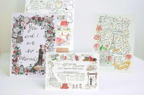 Bespoke Ilrated Wedding Stationery From Story House