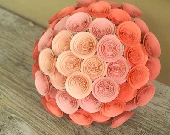 ombre paper bouquet