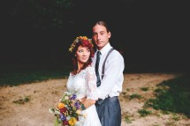 Barefoot Bohemian Hippie Wedding Rock Roll Bride