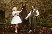 Autumnal Halloween Wedding at a Botanical Gardens  Rock n ...