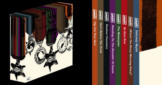 Box set de los discos de Oasis en vinilo