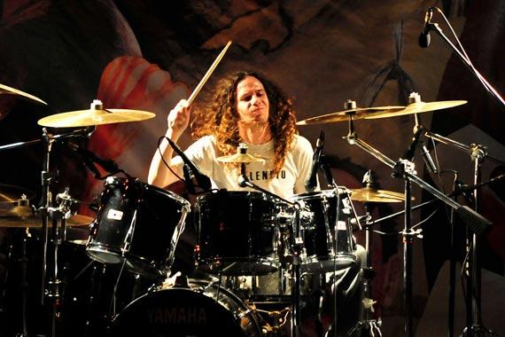 Kurt Heyer, batería de Silencio | Foto: Javier Valenzuela