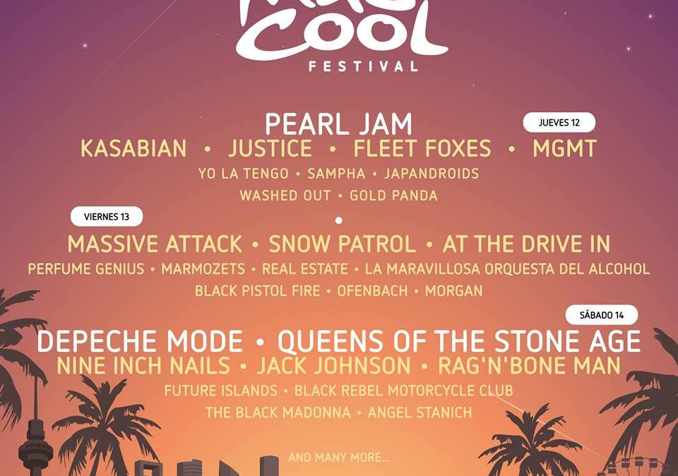 Cartel por días del Mad Cool 2018