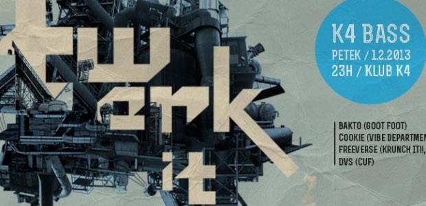 """V sodelovanju z organizatorjem vam podarjamo 2 x 1 vstopnico za dogodek """"K4 Bass: Twerk it"""", ki bo v petek, 1. februarja 2013 v Klubu K4."""