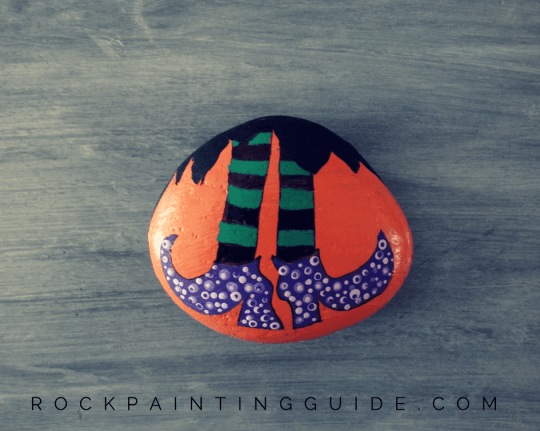 Halloween Witch painted rock