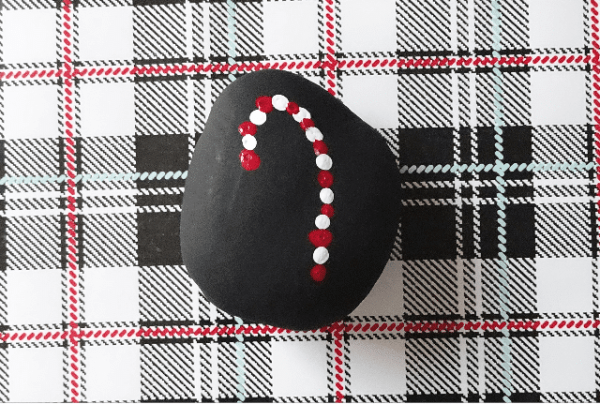 candycanepaintedrock