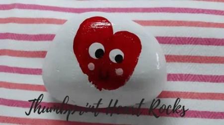 Thumbprint Heart Rocks