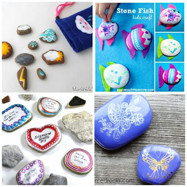 summer rock painting for kids