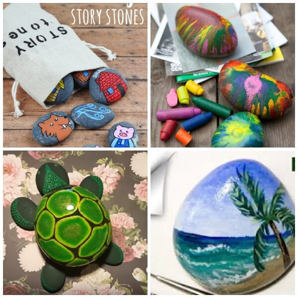 summer stone painting ideas for kids