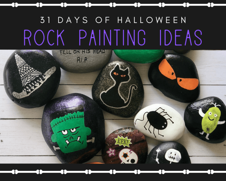 halloween painted rocks