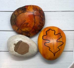 fall rock painting ideas