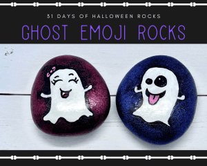 ghost emoji rocks