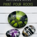 paint pour 1 rocks pin - Try this Spooky Halloween Paint Pouring on Rocks Activity (2018)
