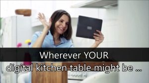 Wherever YOUR digital kitchen table might be, we hope you'll put your elbows on ours too.