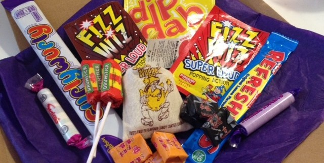 Image of the The Sweetie Box. Selection of traditional sweets available as a postal gift.