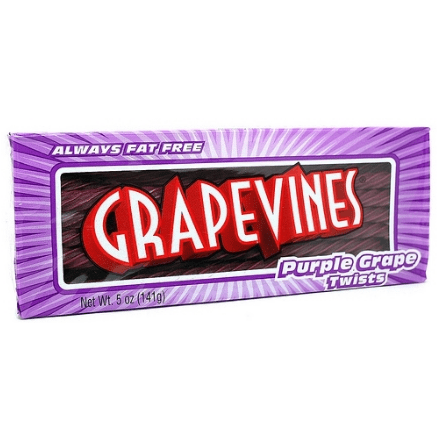 Image of a pack of Grape Vines. American Candy