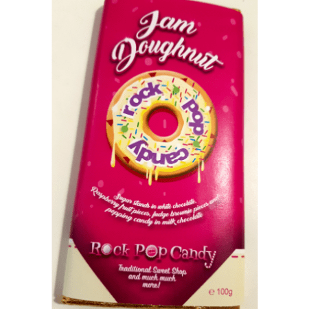 Image of the rock pop candy jam doughnut bar. Exclusive to Rock pop Candy.