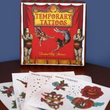Image of the Carnival Temporary tattoo kit. Assorted traditional style temporary tattoos.