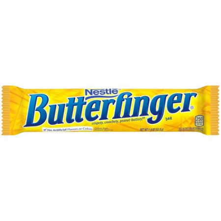 Image of a wrapped Butterfinger Bar from Nestle.