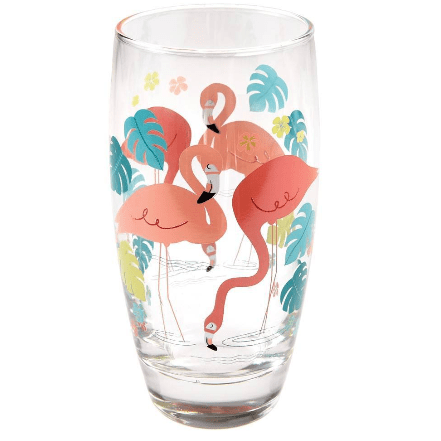 Image of the Flamingo Bay Drinking Glass. Great for flamingo lovers everywhere
