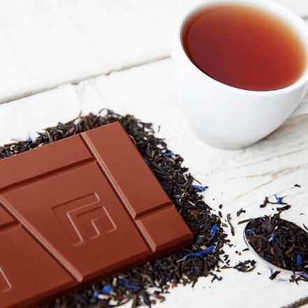 Image of the Earl Grey Milk Chocolate Bar. Perfect for Tea-Time!