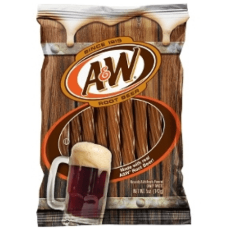 Image of AW Root Beer Twists. Chewy candy made with real root beer.