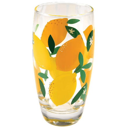 Image of the summer lemons drinking glass