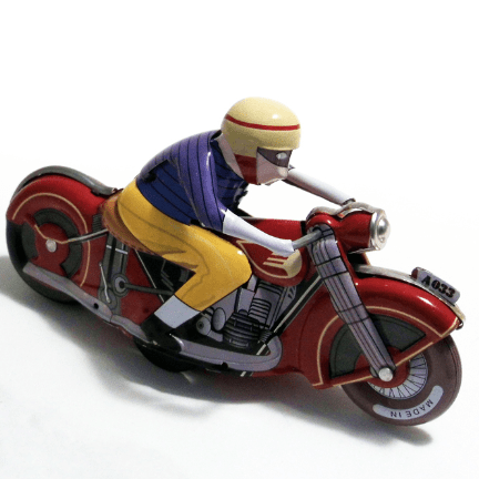 image of the wind up racing motorcycle