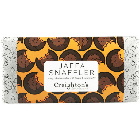 Image of the jaffa snaffler dark chocolate bar