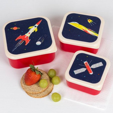 image of a set of space age snack boxes