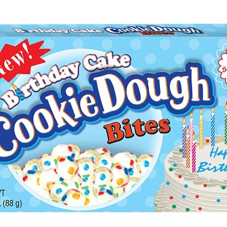 Image of a box of birthday cake cookie dough bites