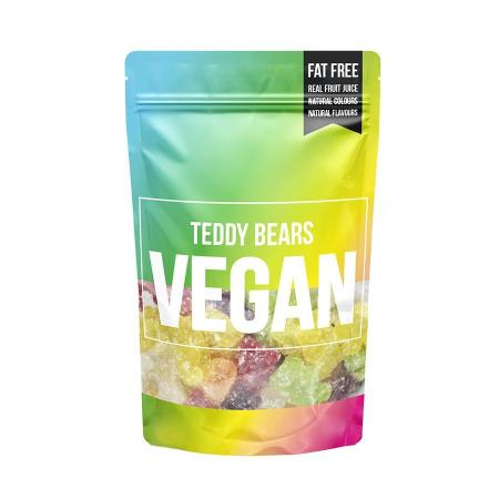 Image of a pouch of vegan bears gummy chews